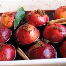 Baked Nectarines In Red Wine - foodonomy