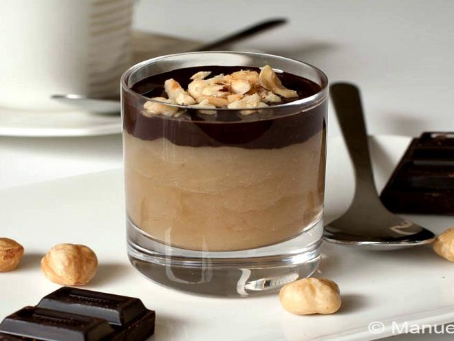 Maple Pear Mousse Shooters With Chocolate And Hazelnuts - foodonomy