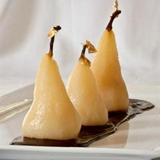 Red Wine Poached Pears with Lime Mousse - foodonomy